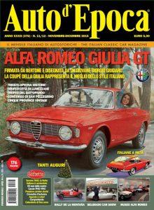Il numero di Novembre-Dicembre 2015 della rivista Auto d'Epoca